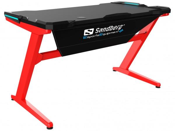 Sandberg Gaming Schreibtisch Fighter rot