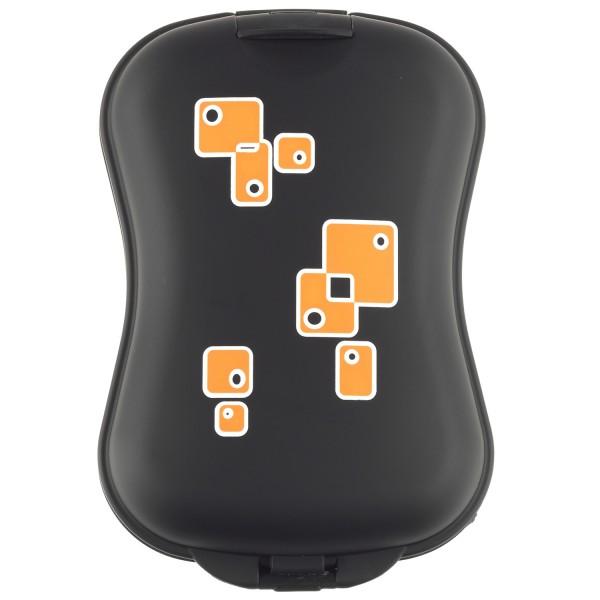 B&W XS Case Schwarz/Orange - Front | camXpert.com