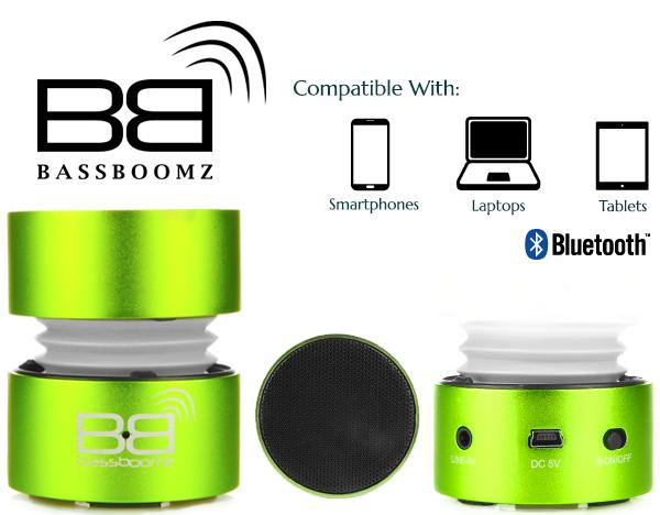 BassBoomz Green - Bluetooth Lautsprecher | camXpert.com