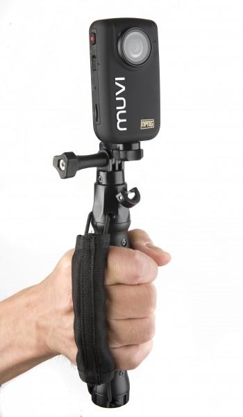 VEHO MUVI™ Universal Palm Strap Mount mit MUVI™ HD | camXpert.com