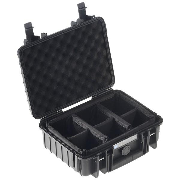 B&W Outdoor Case Typ 1000 RPD - Schwarz | camXpert.com