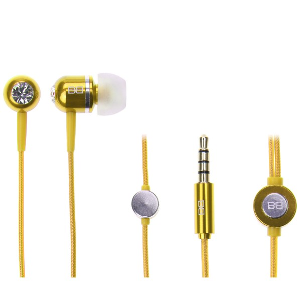 BassBuds Classic Collection Yellow