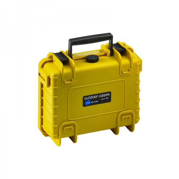 B&W Outdoor Case Typ 500 SI geschlossen - gelb