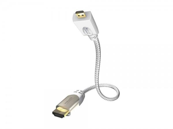 inakustik HIGH SPEED PREMIUM HDMI Kabel 0,75 m mit Ethernet MICRO HDMI 2.0
