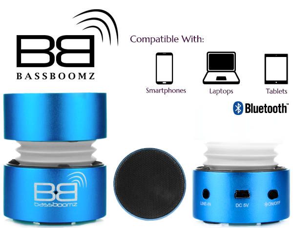 BassBoomz Blue - Bluetooth Lautsprecher   camXpert.com