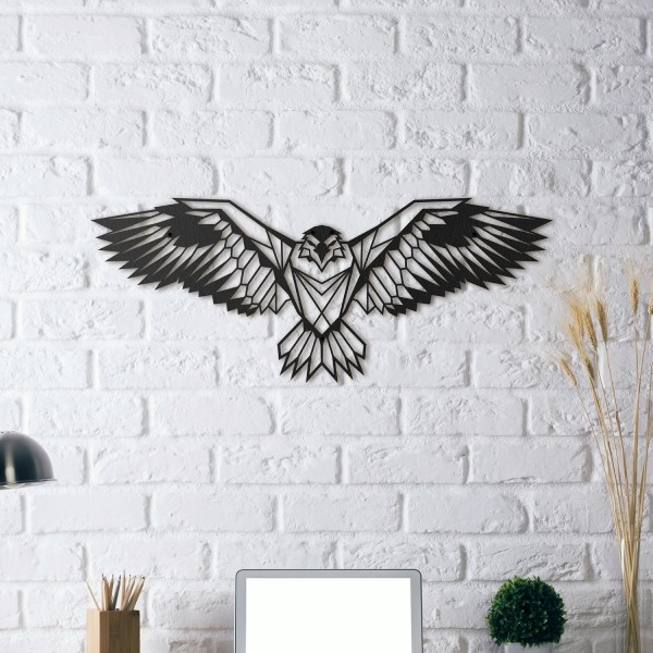HOAGARD Wandbild aus schwarzem Metall - Adler