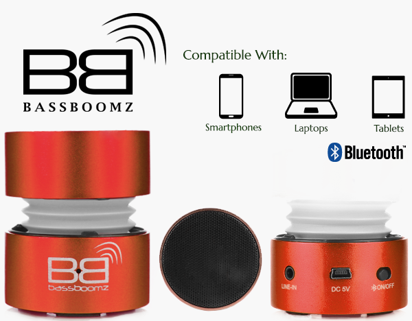 BassBoomz Red - Bluetooth Lautsprecher | camXpert.com