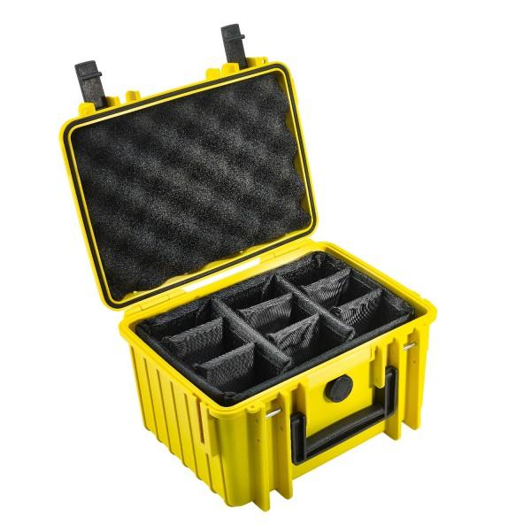 B&W Outdoor Case Typ 2000 RPD - Gelb | camXpert.com