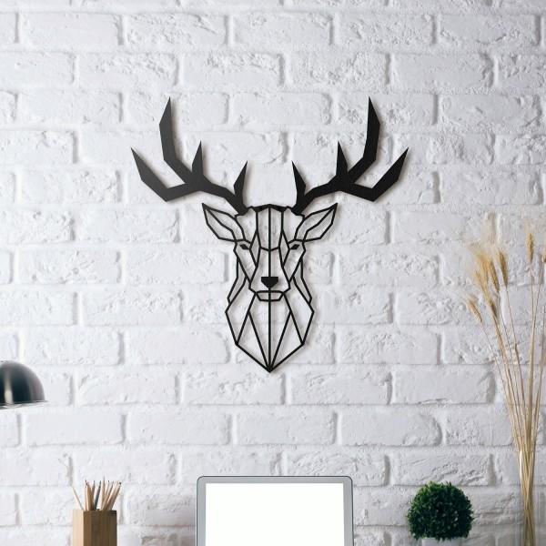 HOAGARD Wandbild aus schwarzem Metall - Hirschkopf