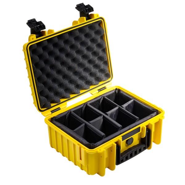 B&W Outdoor Case Typ 3000 RPD - Gelb   camXpert.com